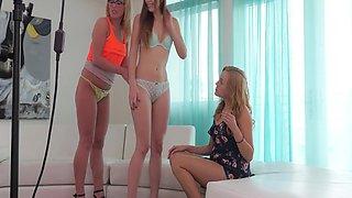 Liv, Summer And Eva Foursome