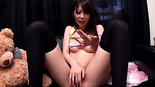 Exotic Japanese girl Amateur in Amazing stockings, masturbation JAV clip