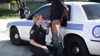 POV deep throat in public for a criminal