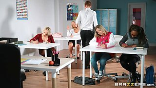 hardcore sex in the classroom