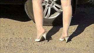 My Mini skirt and car