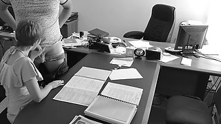 Boss fucks my wife at the office on hid