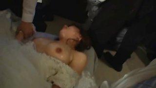 Asian bride gets hardcore group fucking part6