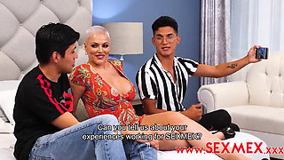 INTERVIEW WITH A YOUTUBER ENDS UP IN A THREESOME DASHA SEXMEX XXX