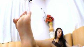 Goddess use 2 lesbian foot slave