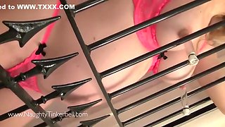 Tinker Bell And Naughty Tinkerbell In Filthy Preggo Blonde Is Fisted Fucked And Spunked On Behind Bars