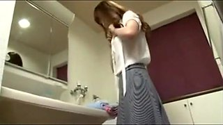 Japanese Sister forced in the bathroom