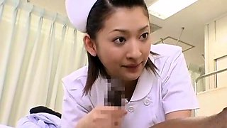 Insatiable Japanese nurses taking advantage of meat sticks