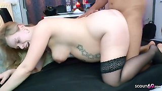 9 Month Pregnant German Creampie Gangbang With Step Daughte