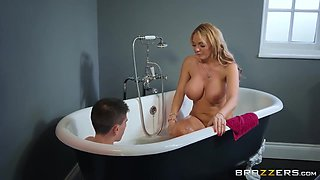 Two Big Titted Cougars And One Teenager Have A Threesome In The Tub - Antonia Deona, Jordi El Nino Polla And Rebecca More