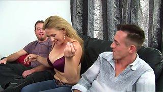 Exotic pornstar in amazing threesome, spanking porn scene