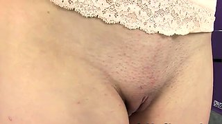 Piss beauty wets pants and dildos pussy