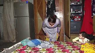 Village Girl Changing Clothes, Desi Aunty Village Life