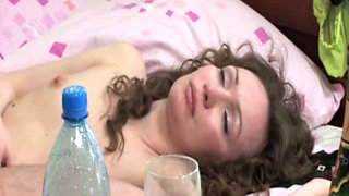 Wasted Drunken Mom Fucked On Bed While Sleeping