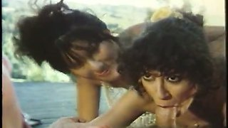 Fucking perverted vintage bitches seem to be happy during outdoor oral sex