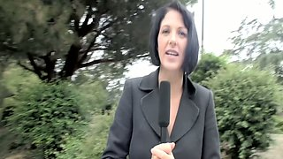 Curious reporter Roxanne Hall gonna gain information while fucking with politician