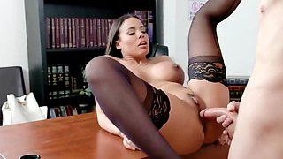 Nurse in stockings in the school Fucks with a Horny student...