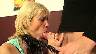 Young handsome man fucked old woman