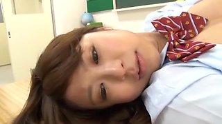 Exotic Japanese whore Megumi Shino, Imai Natsumi, Sae Aihara in Hottest College/Gakuseifuku, Small Tits JAV scene