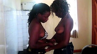 Homemade Sex Tape with African Lesbians