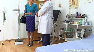 Hot skinny MILF caught naked in doctor's office with spy cam