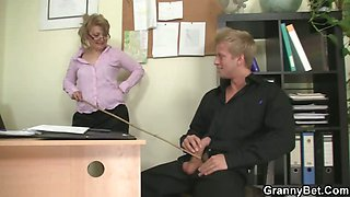 Office bitch enjoys riding his meat