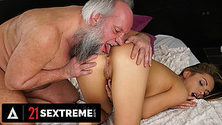 Horny Grandpa Is Hungry For Some Fresh Pussy
