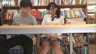 Nerd Glasses Schoolgirl Library Creampie