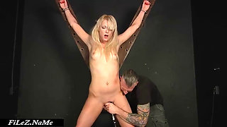 Stuck Up Blonde Kidnapped Fucked and Strangled in Dungeon