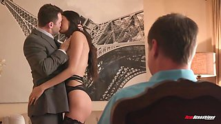 Young Brunette Lady In Cheating In Cuckold With With Her Fiancee