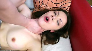 Completely natural white babe loves getting fucked by her partner