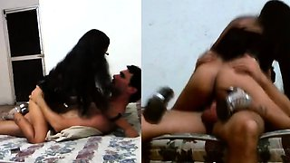 Busty Latina With Glasses Riding Long Schlong